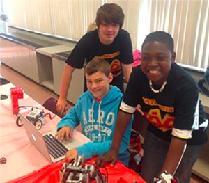 Middle School Robotics Students