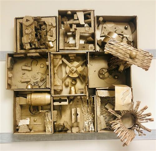 Found-Object Assemblage Inspired by Louise Nevelson - 5th Grade