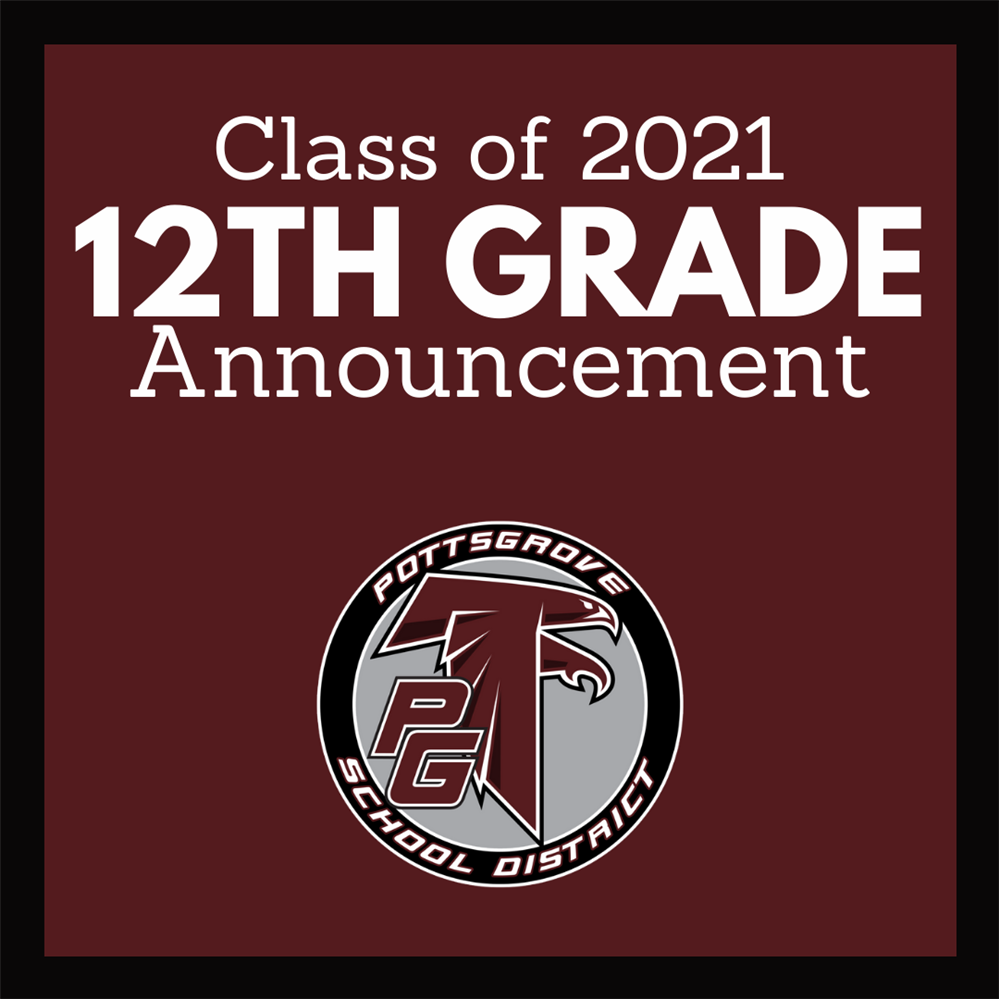 Class of 2021 12th Grade Announcement Includes School Logo