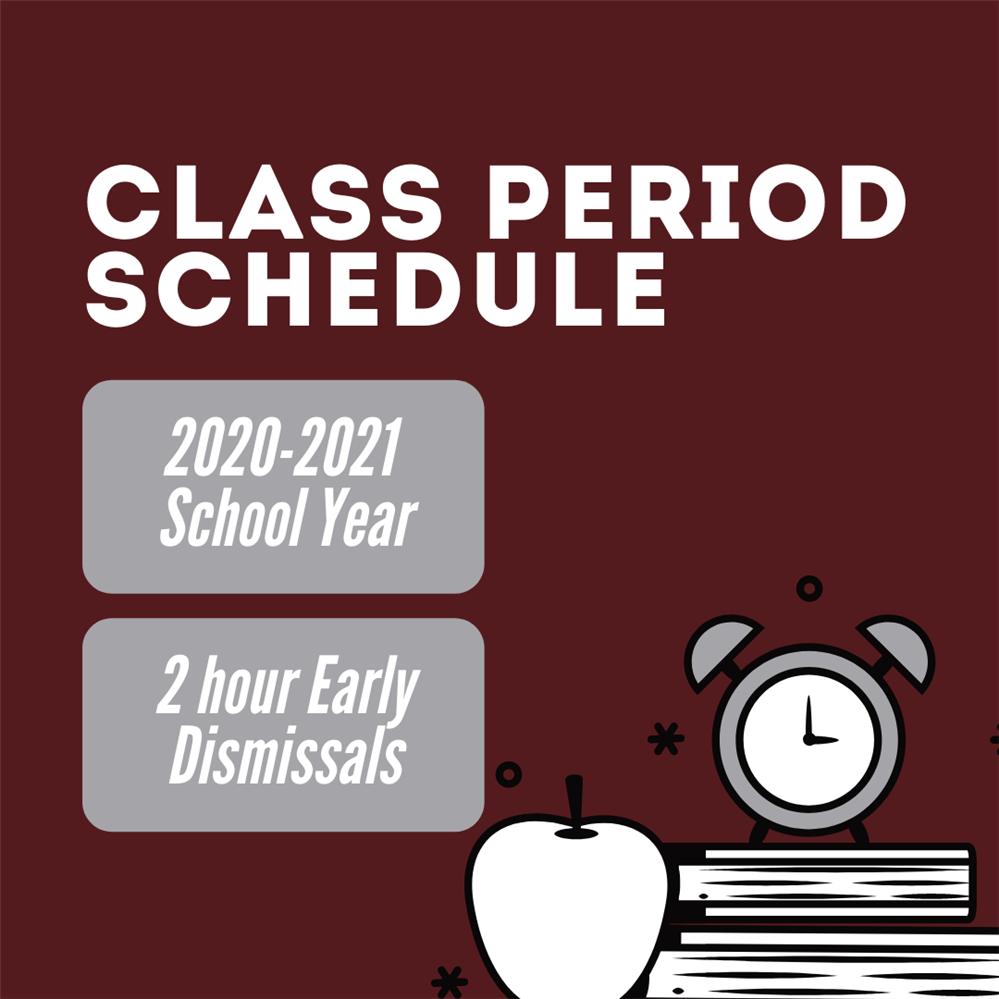 Class Period Schedule with Books, Apple and Clock