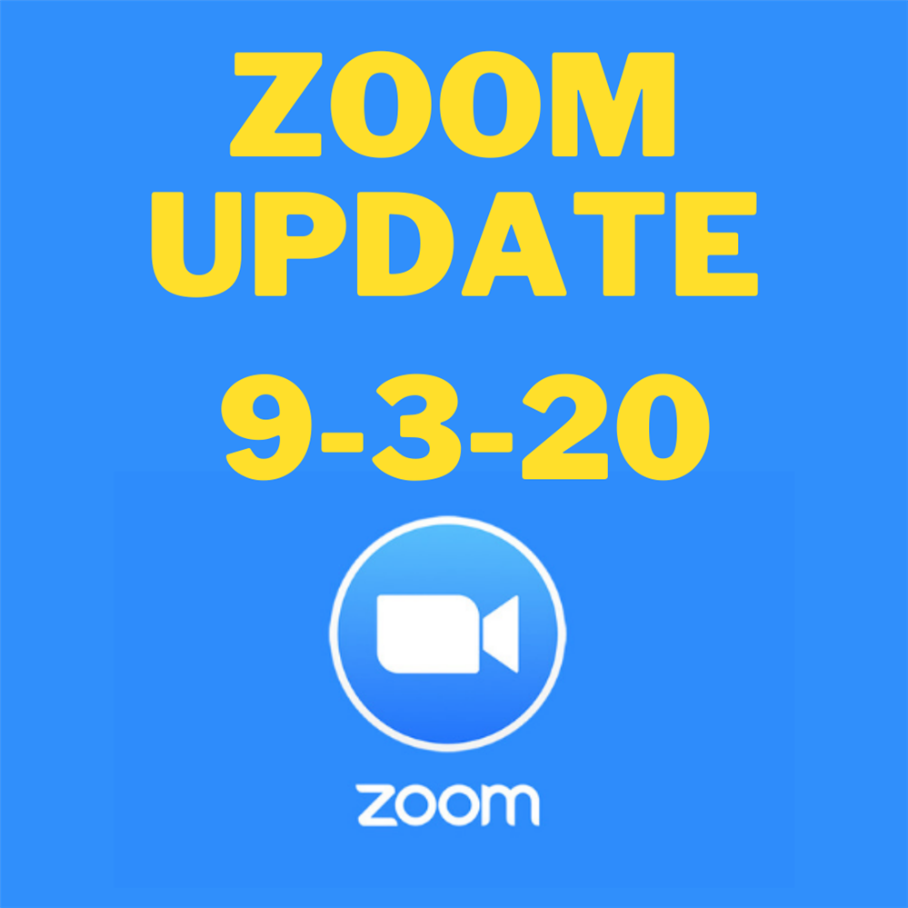 Zoom Update Required for Tuesday