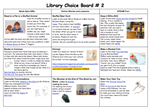 Library Choice Board 2
