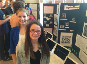Tech Expo - Students and their table top displays